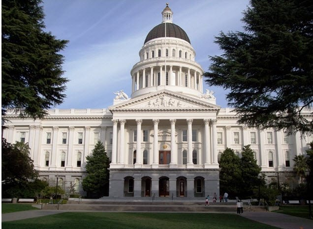 California's State Capital Building in Sacramento