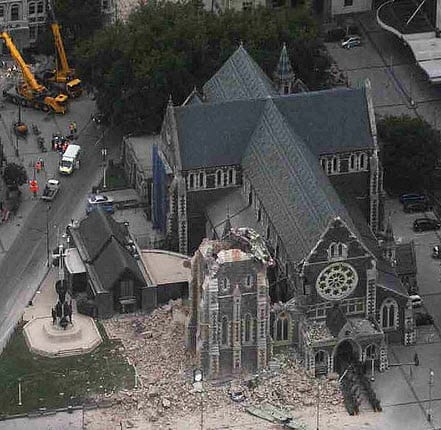 ChristChurch Cathedral in New Zealand Devastated After Earthquake