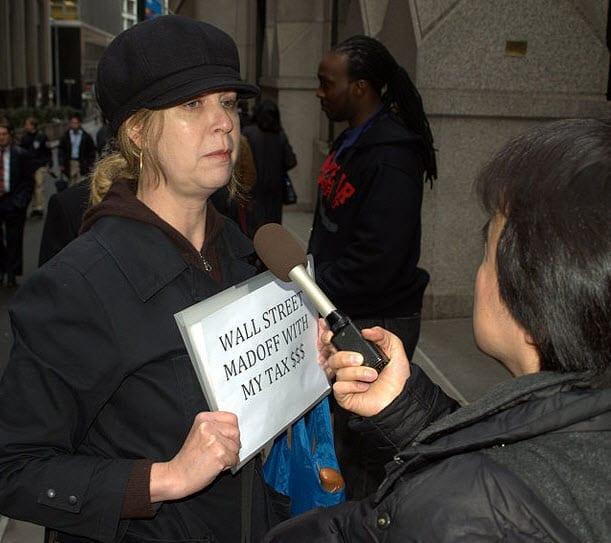 Protestor in Wake of Financial Meltdown 2009