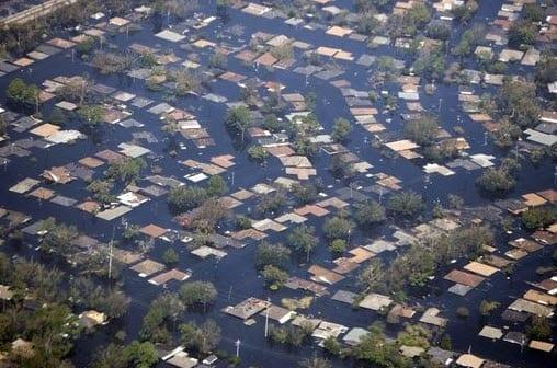 Hurricane Katrina Flood Damage homeowners insurance