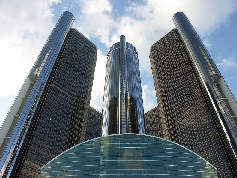 GM Headquarters in Detroit - auto insurance