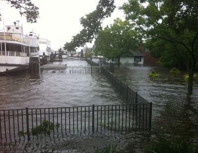 Damage from Hurricane Irene