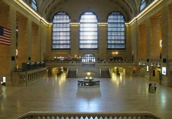 New York Grand Central Empty After Evacuation due to Hurricane Irene
