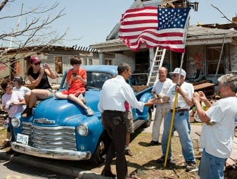 Obama visits Joplin