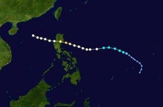 Path of Typhoon Nesat