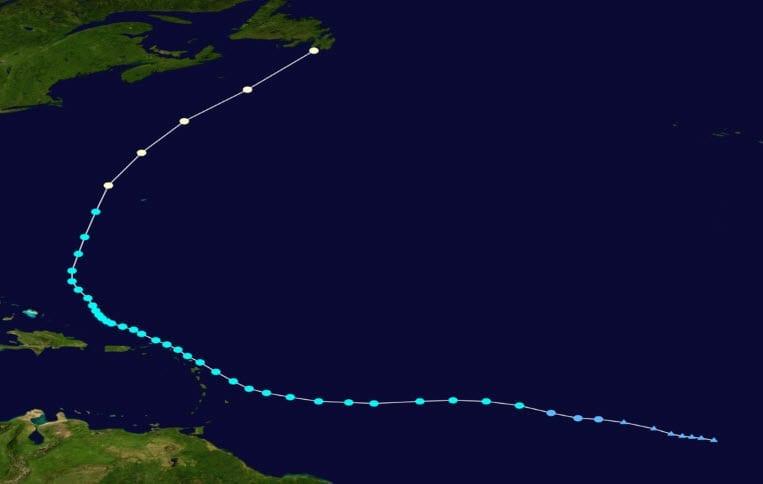 Storm Maria Path