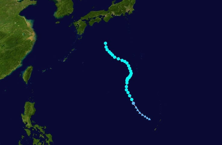 Typhoon Talas Storm Path
