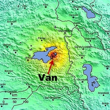 Van Earthquake Intensity Map