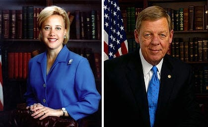Senator Mary Landrieu and Senator Johnny Isakson