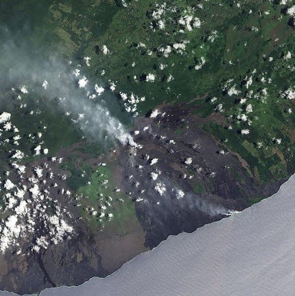 Kilauea Volcano Satelite Image