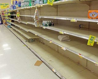 New York grocery store sold old of water due to Hurricane Sandy