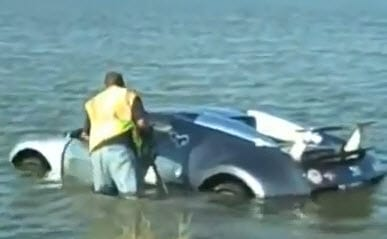 Insurance News Bugatti in water