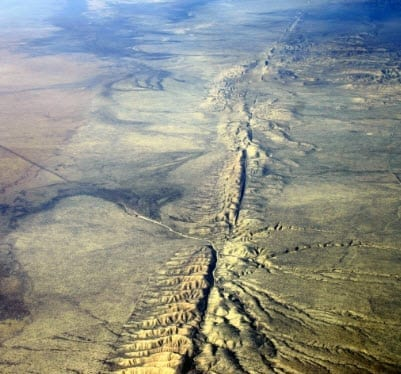 San Andreas Earthquake Fault Line