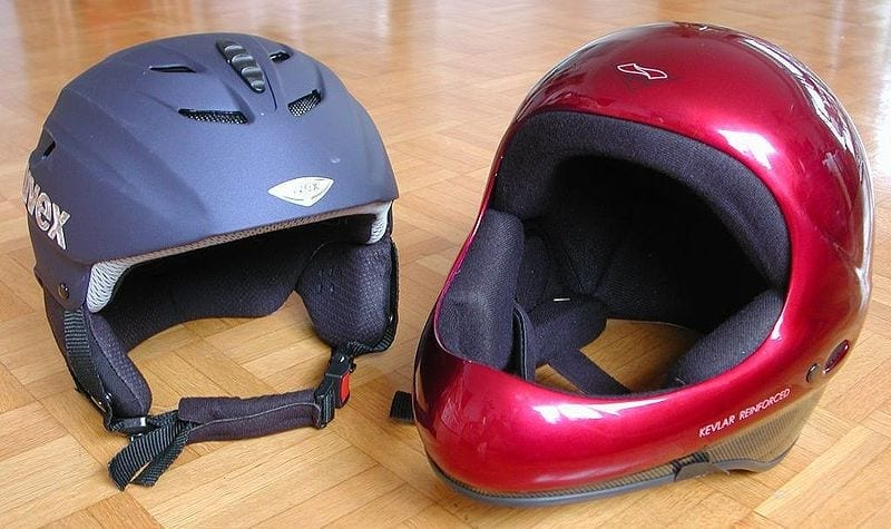 Travel insurance ski helmet