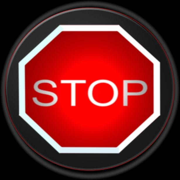 Health insurance stop sign
