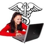 health insurance marketing young woman