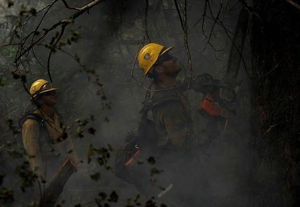 Colorado Wildfire Fire Fighters