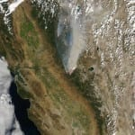 Yosemite Fire from space