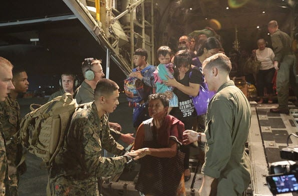 Military helping Super Typhoon Haiyan victims