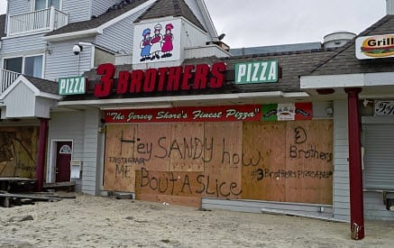 hurricane sandy business shut down