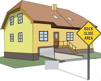 Homeowners insurance rockslide