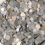 Insurance company payment in coins pennies