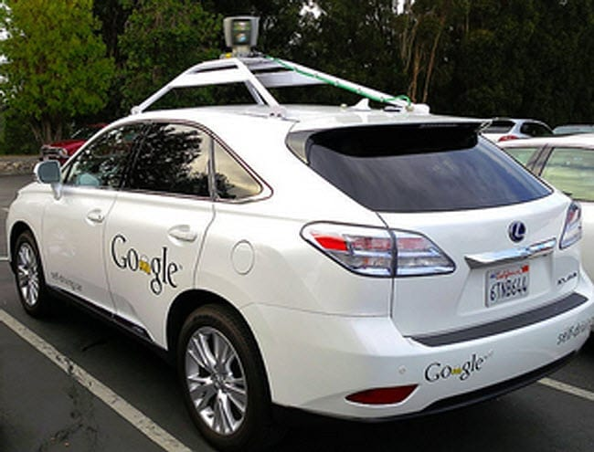 Driverless self-driving car Google auto insurance
