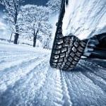 bigstock Car tires on winter road 103356746