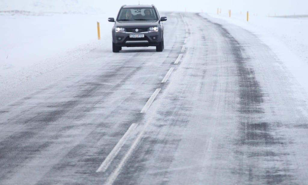 snow winter road safety ice auto insurance digital tire pressure gauge