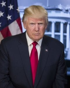 GOP tax plan health care vote - President Donald Trump Official Portrait