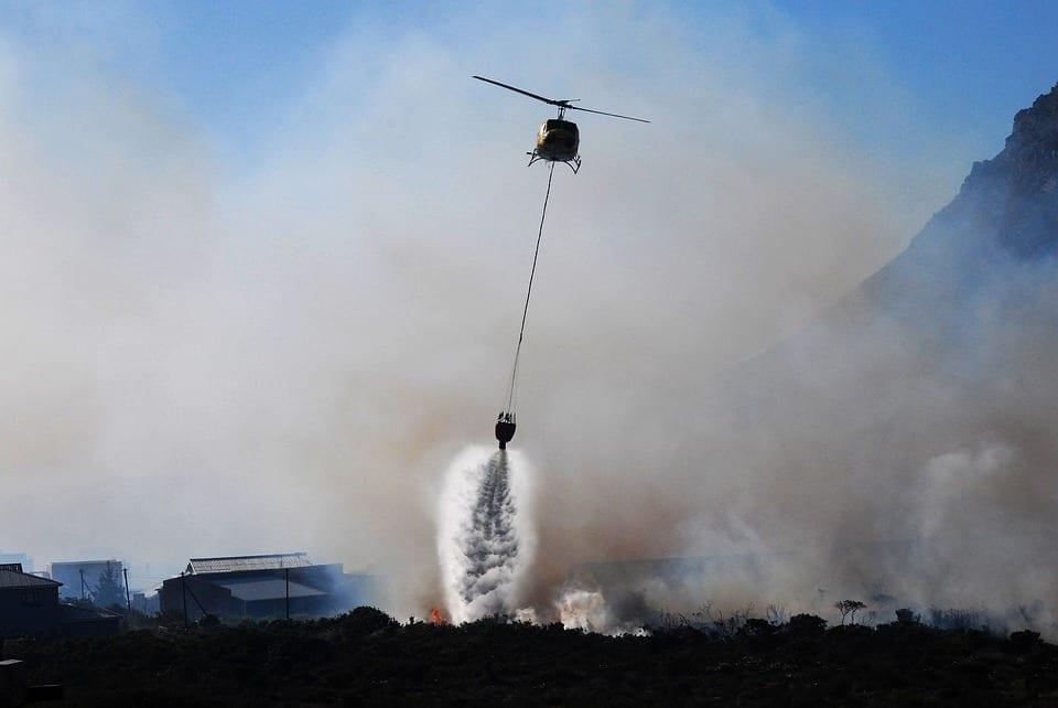 helicopter wildfire evacuation cost