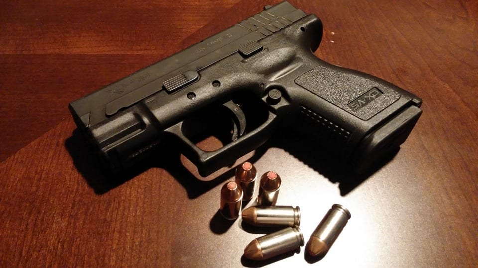 Active Shooter Insurance - Gun and Bullets