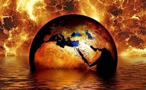Climate Change - Insurance - Earth in Flood and Fire