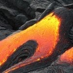 Hawaii lava damage - Volcano lava flowing