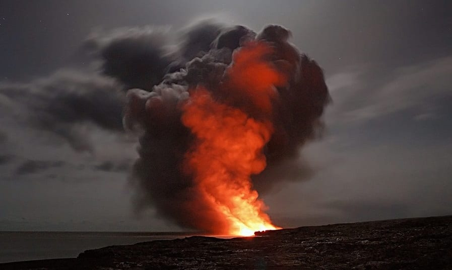 Hawaii volcano insurance - errupting volcano in Hawaii