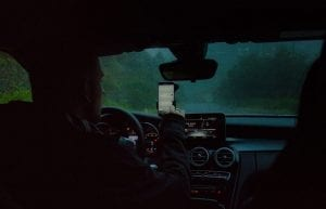 Allstate Drivewise - Distracted Driving - Man using phone in car