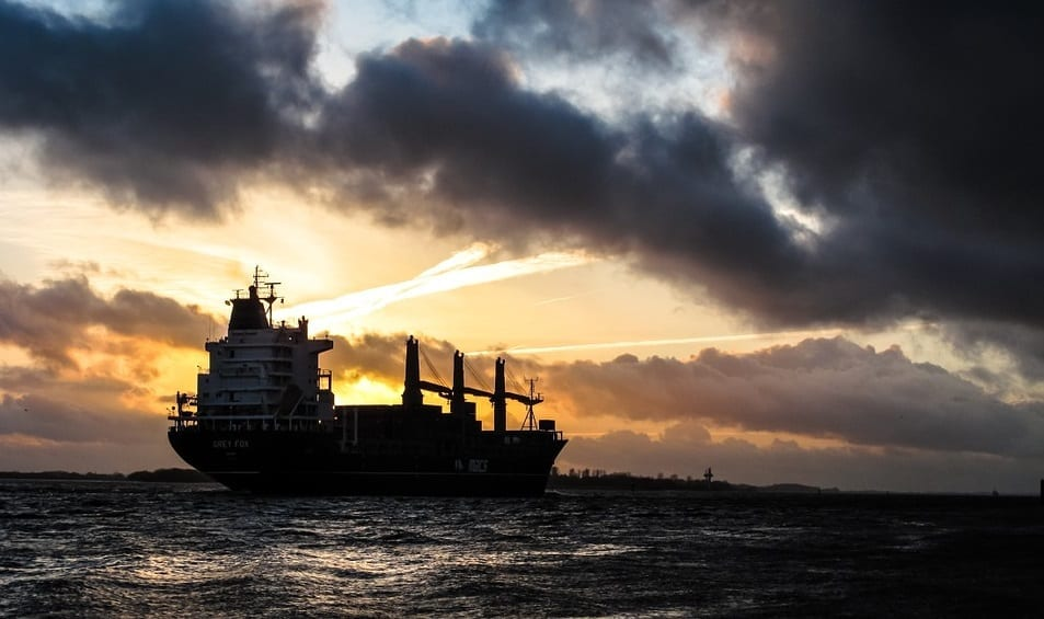 Oil shipment insurance - Ship at sea carrying oil