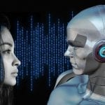 Voice-calling AI - Woman and Robot