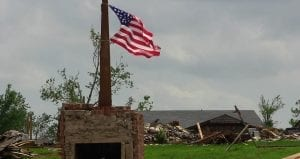 Catastrophe loss estimate - Destruction - American Flag