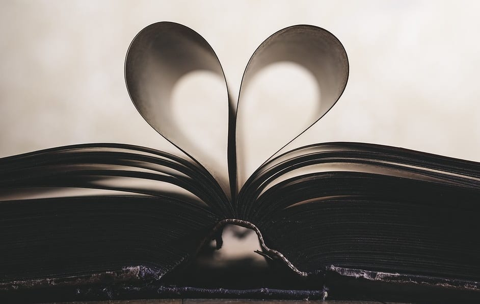 State health care study - Book with pages shaped like a heart