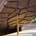 US workers compensation - safety shoes - screw - risk of accident