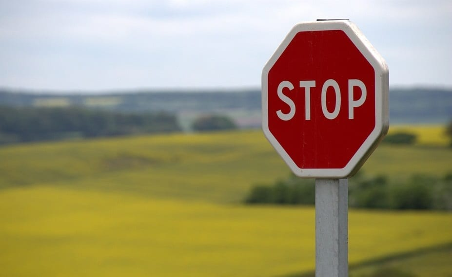 Repayment of insurance customers stopped - Stop Sign