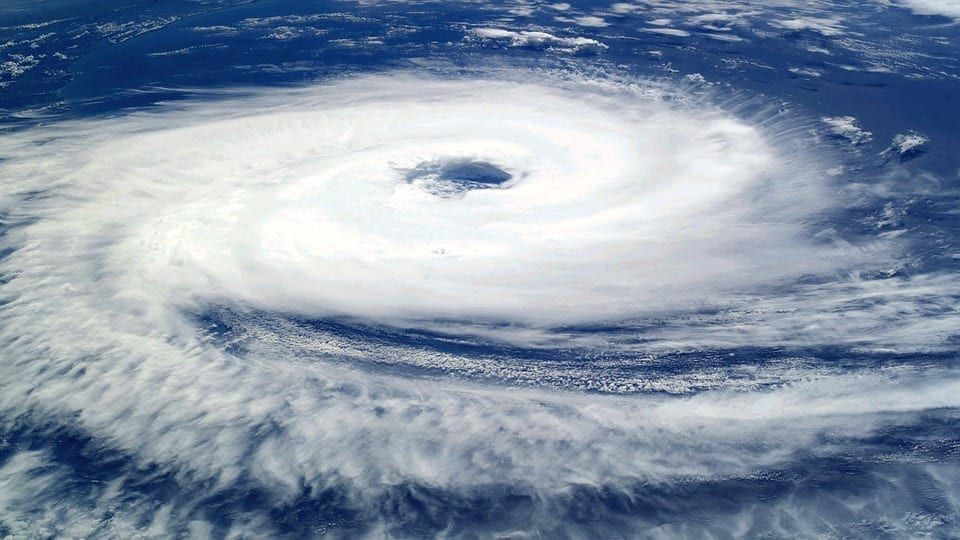 Storm insurance - Hurricane from space