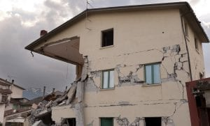 California Earthquake Insurance - Damaged Home from Earthquake