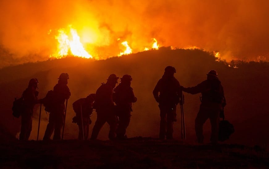 Camp Fire - Forest Fire - Wildfire - Firefighters