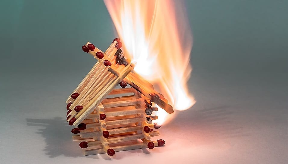 Dunce Day - Matchstick House - Fire - Burning