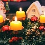 Holiday decoration hazards - Wreath with candles
