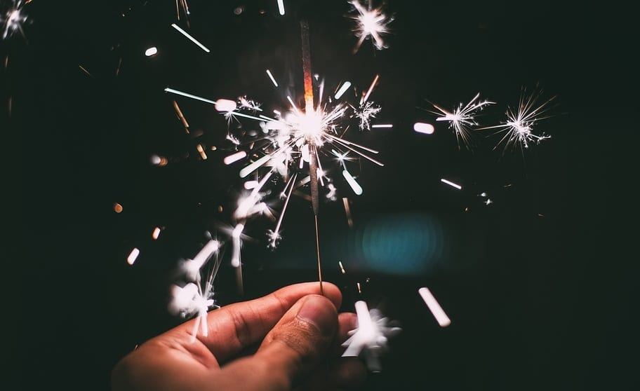 Safe New Year's Eve - Sparkler