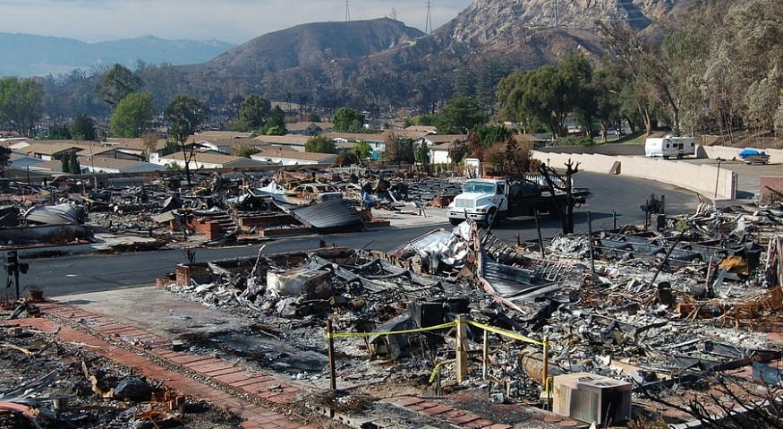 California Wildfires - Damage from Fire