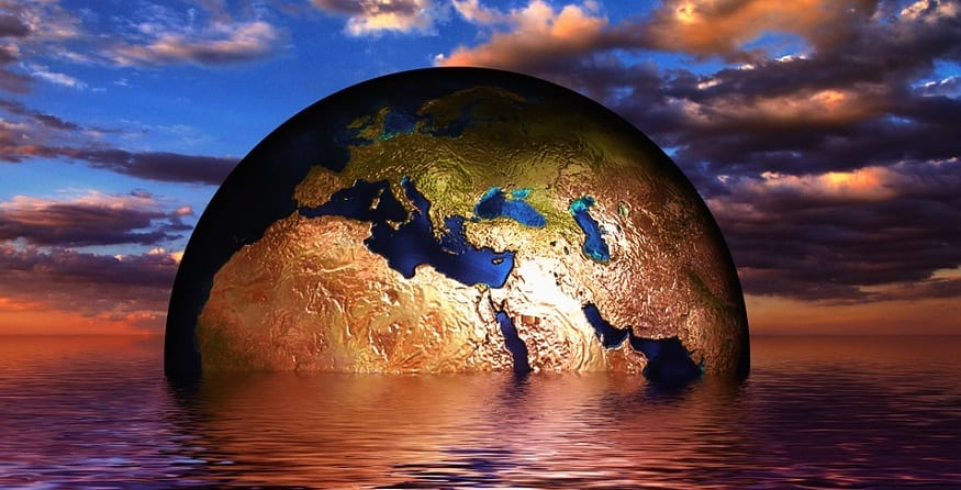 Climate change impact - World in water